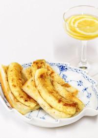 バナナトーストとレモンのはちみつ漬け
