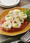 レンジで!鶏むね肉の北海道♪チーズロール