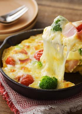 北海道♪とろ~りチーズのオープンオムレツ