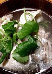鯛のアラのお吸い物<左利きの方の捌き方>