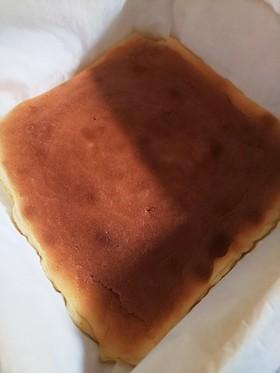 新聞紙型で、チーズケーキ