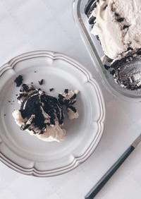 材料ふたつ☆簡単 スコップ オレオケーキ