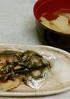 フライパンアジの干物焼き&薬膳風スープ✨