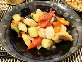 簡単!鶏肉と野菜のポン酢炒め