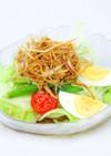 ごぼう素揚げとレタスのサラダ