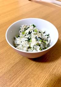 小松菜とじゃこの菜っ葉飯