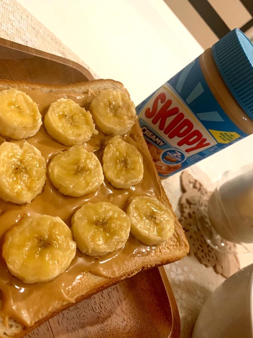 スキッピーで★バナナピーナッツトースト★