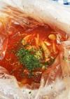 災害時の食事2…常温品でミネストローネ風