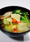 野菜たっぷり♡ おかず味噌汁 バター風味