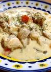 濃厚☆鶏肉の豆乳チーズ煮込み