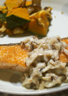 鮭のムニエル♪椎茸ソースで♪生クリ不使用