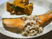 鮭のムニエル♪椎茸ソースで♪生クリ不使用の写真