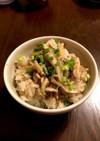舞茸とツナの炊き込みご飯