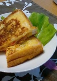 カニカマチーズのクロックムッシュ