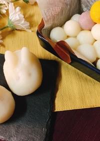 お月見☆だんご粉で簡単野菜のカラフル団子