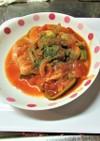 オナカにたまる鶏モモ肉のトマト煮