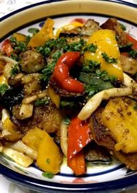 彩り野菜の焼きサラダ