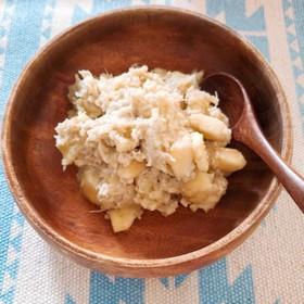 離乳食中期〜バナナオートミール粥