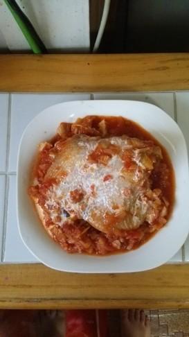 簡単!若鶏のトマトソース煮込み