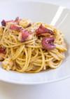 タコのバジルソース・スパゲッティ