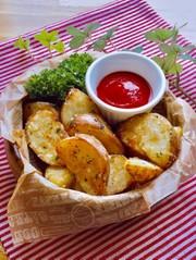 フライドポテト ガーリックバター味の写真