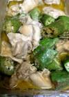 鶏むね肉とオクラのマヨ味噌和え
