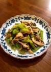 万願寺とうがらしと平茸の炒め物