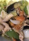 福耳と夏野菜の簡単炒め
