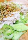 ゴーヤと豚の山椒サラダ