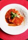 ソーセージとセロリのピリ辛トマト煮
