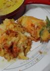チーズ鱈と野菜の かき揚げ