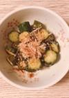 オクラときゅうりの鰹節サラダ
