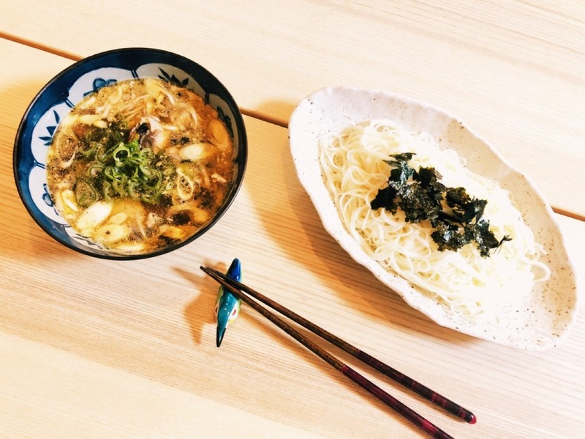 サバ缶でめちゃ簡単★麺のつけ汁