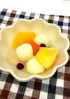 フルーツ豆腐白玉