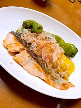 鮭と夏野菜の焼き浸し