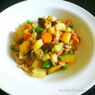 豚と野菜サイコロ味噌炒め・一人昼ご飯⑧