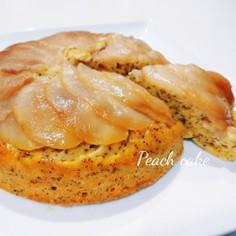 炊飯器 HMで 簡単♡桃と紅茶の ケーキ