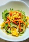 ゴーヤと切り干し大根の彩りサラダ