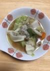 余り野菜と水餃子で作れる簡単スープ