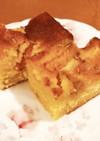 黄桃のアーモンドケーキ