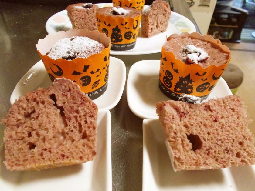 HM蒸しパン風ケーキをレンジとオーブンで