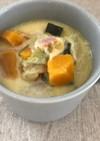かぼちゃとベーコンと白菜のクリームスープ