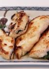 鶏ささみの梅と大葉のはさみ焼き
