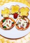 餃子の皮で☆南瓜のキッシュとピザ