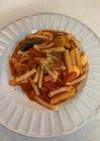 トマトとモッツァレラ茄子パスタ