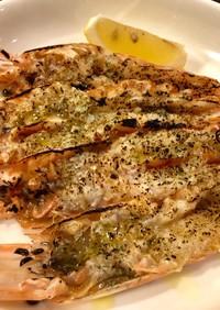 赤海老の炙り ハーブとオリーブオイル