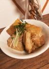 市販タレで時短♡厚揚げと鶏肉の生姜風煮物