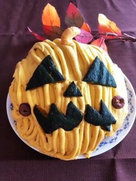 ハロウィンに♡立体おばけカボチャケーキ
