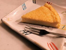 低糖質☆アーモンドミルクのチーズケーキ