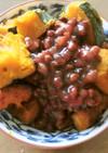 煮ないで、カボチャと小豆のいとこに風